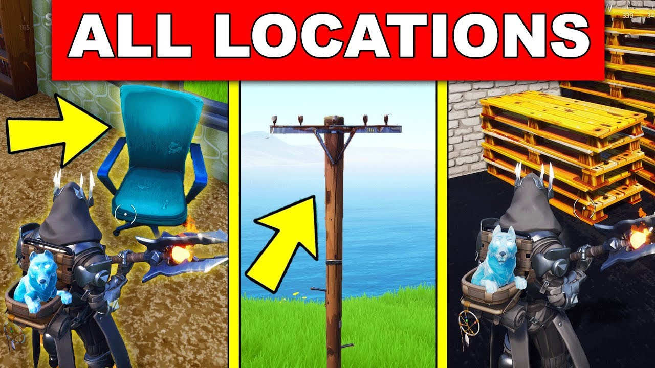 Destroy Chairs Destroy Utility Poles Destroy Wooden Pallets Locations Week 4 Challenges Fortnite