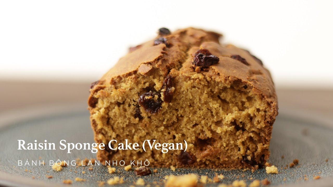 ASMR | Raisin Sponge Cake (Vegan) | Bánh Bông Lan Nho Khô (Thuần Chay)