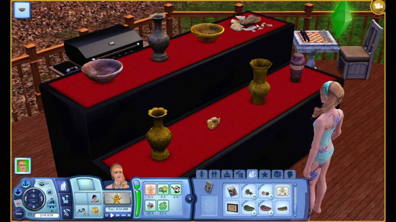 Sims 3 carter 39 s display cases youtube for Case the sims 3 arredate