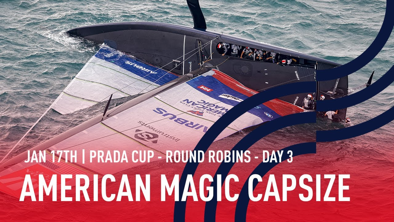 American Magic Capsize In Full | As It Happened Live