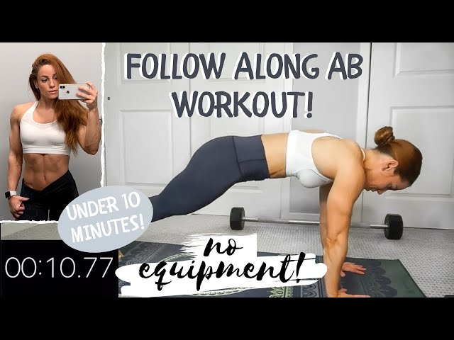 9 MINUTE AB WORKOUT | FOLLOW ALONG | NO EQUIPMENT