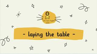 Englisch in der Grundschule: laying the table (words)