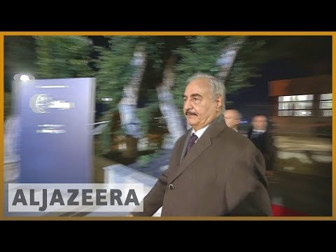 🇮🇹🇱🇾Renegade General Khalifa Haftar joins Libya conference in Palermo | Al Jazeera English