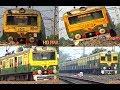 UP DOWN Bandel/BDC - Howrah/HWH - KATWA /KWAE local train passing Hooghly
