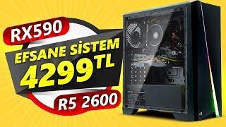 AMD Ryzen5 2600 & RX590 Efsane Sistem Çılgın İndirim !