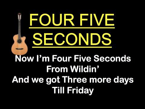 """FOUR FIVE SECONDS"" KARAOKE LYRICS - Rihanna, Kanye West, Paul McCartney (Guitar Karaoke)"
