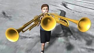 TRUMPET BOY ATTACK + K-ON   3D meme