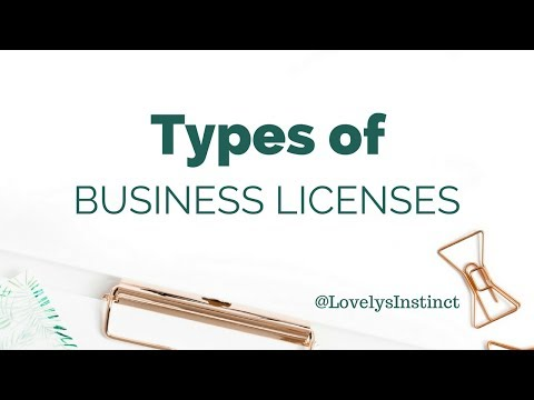 Types of Business Licenses