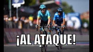 Supermán López al ataque en la etapa 12 del Giro de Italia