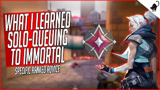 What I Learned Solo-Queuing t๐ Immortal in VALORANT   Ranked Advice