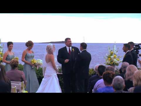 Wedding ceremony at Misselwood, Beverly MA