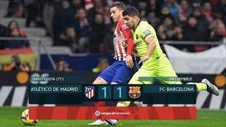Atletico Madrid vs Barcelona, La Liga, 2018 - MATCH REVIEW