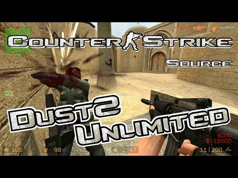 Counter-Strike Source - DE Dust2 Unlimited - Gameplay - 1080p HD