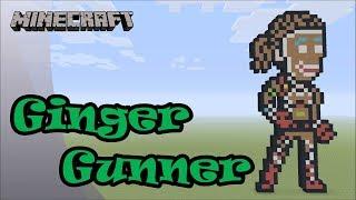Minecraft: Pixel Art Tutorial: Ginger Gunner (Fortnite Battle Royale)