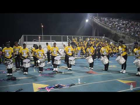 Miami Northwestern Mighty Marching Bulls Percussion Line 2018