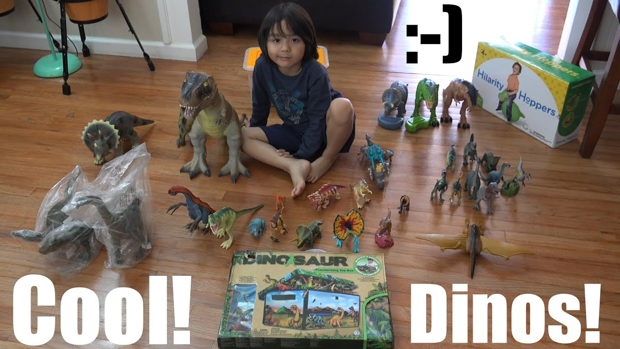 Dinosaurs Toys Collection : Bunch of dinosaur toy collection a box unbox