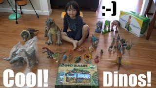 Bunch of Dinosaur Toy Collection + A Dinosaur Box Unboxing & Playtime 1 of 2