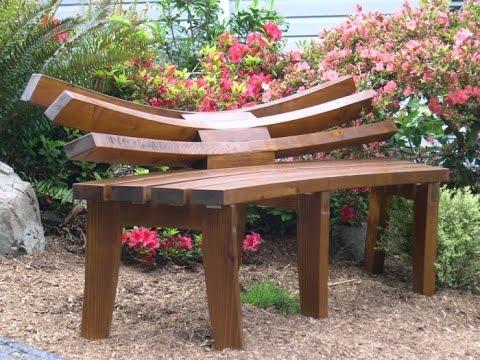 Садовые скамейки Интересные идеи YouTube