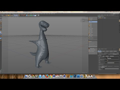 Charakter Dinosaurier ( Dino ) Sculpting modellieren Deutsch | Cinema 4D Tutorial