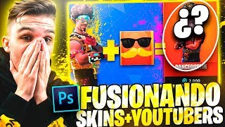 FUSION SKINS OF FORTNITE WITH YOUTUBERS in PHOTOSHOP @MigueZYT