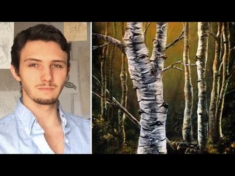 How to paint birch trees, branches and bark! A basic speed painting tutorial of a birch tree
