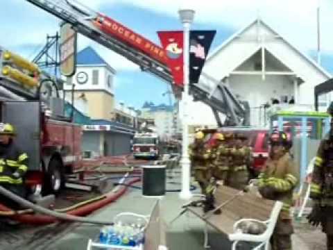 Ocean City MD 9 alarm structure fire on the boardwalk