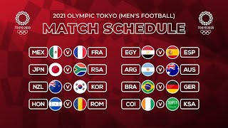 MATCH SCHEDULE OLYMPICS TOKYO 2021: GROUP STAGE