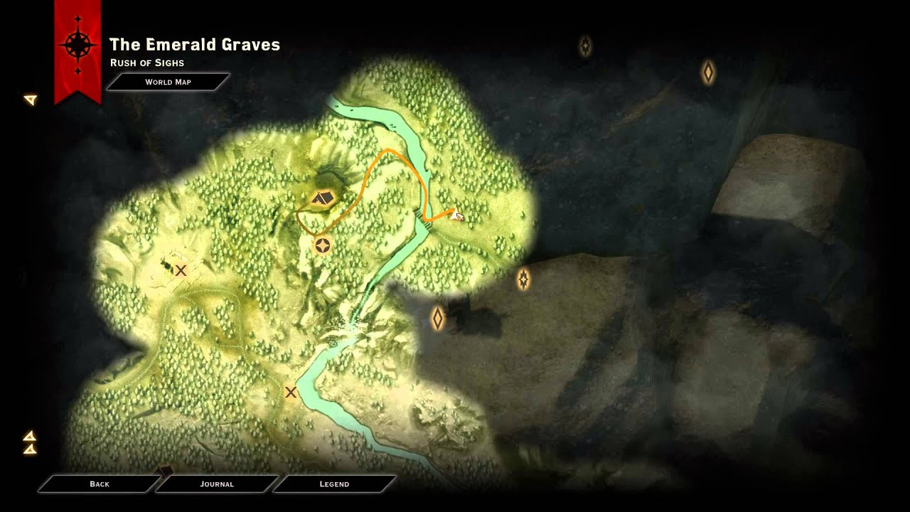 Map of Watchers Pass Quest Location  Dragon Age Inquisition