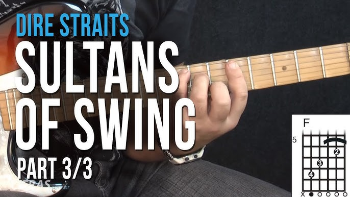 Dire Straits Sultans Of Swing Part 2 3 How To Play On Guitar Youtube
