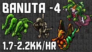 [Tibia Where to Hunt – MS/ED 250+] Banuta -4 (1.7-2.2kk/hr @ 285)