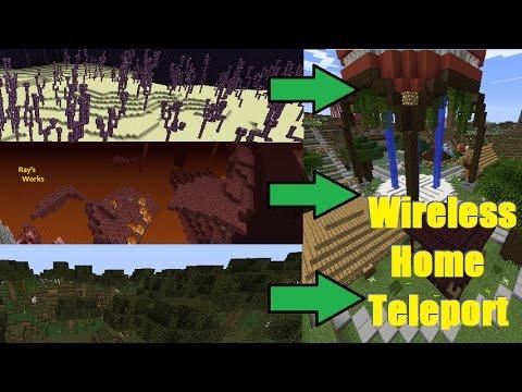 Wireless Home Teleport! 1.12-1.9 Vanilla Survival | Ray's Works