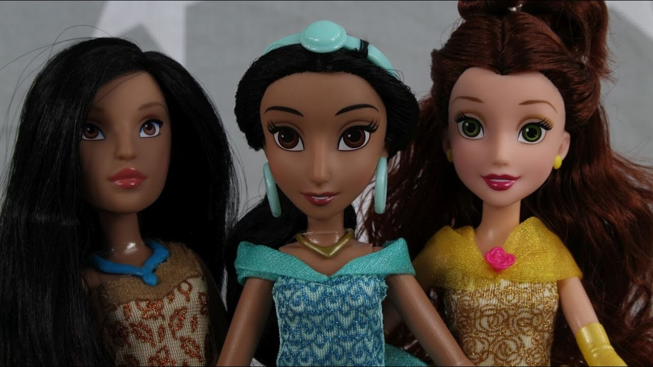 Hasbro - Disney Princess - Royal Shimmer Dolls - Pocahontas & Belle &  Jasmine