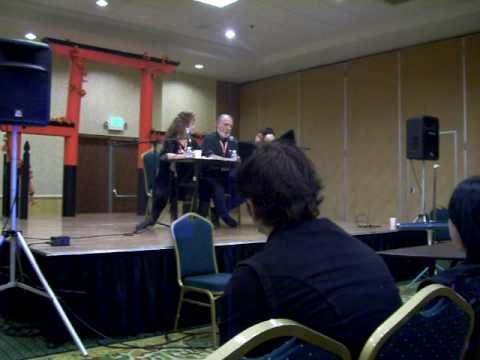 Melodee Spevack Michael McConnohie Aki Con Q & A panel