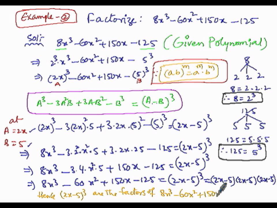 Algebra Factorization Using Special Products Method PART2 - YouTube