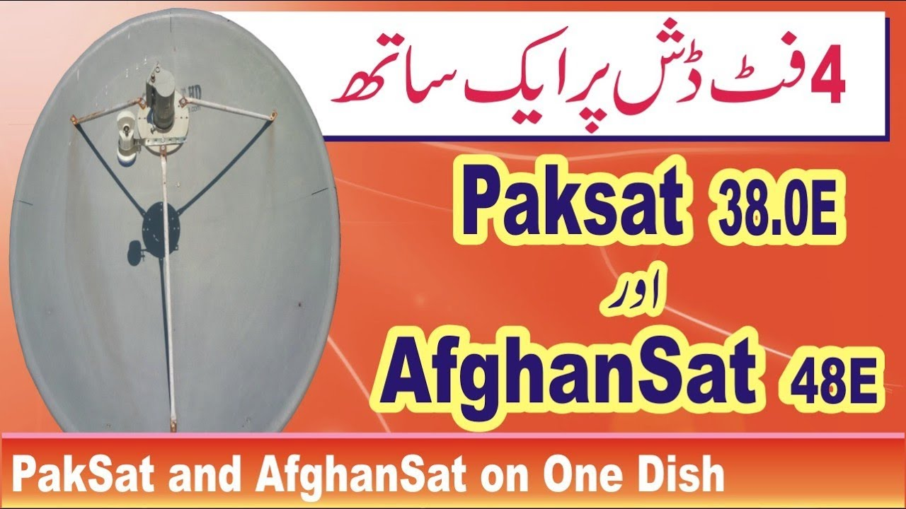 How to Set PakSat 38 East and AfghanSat 48 East on One Dish
