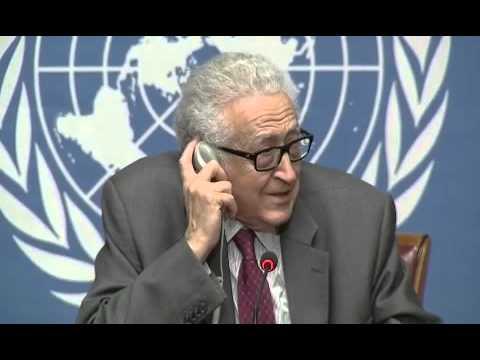 Syrie \ Conférence de presse à Genève de M - Lakhdar Brahimi 27 \ 01 \ 2014