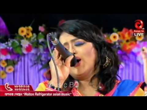 Aajker ei chader alo by Reshma sweety with n0ngor at Asian tv Live Show
