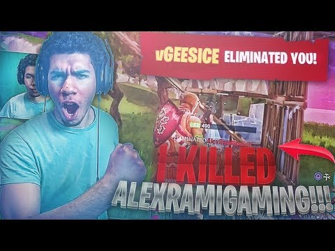 AlexRamiGaming Vs GeeSice! + 19 KILL WIN! FORTNITE BATTLE ROYALE GAMEPLAY! SOLOS!