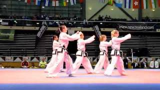 NZ Junior Girls Taekwon-Do Gold Medal Patterns - Ge-Baek