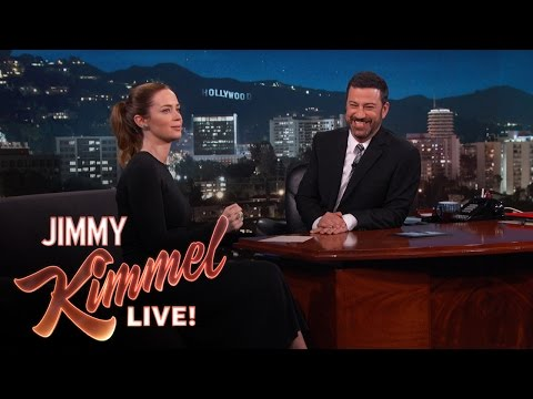 "Emily Blunt Pretended to Ride a ""Wolf Bear"""