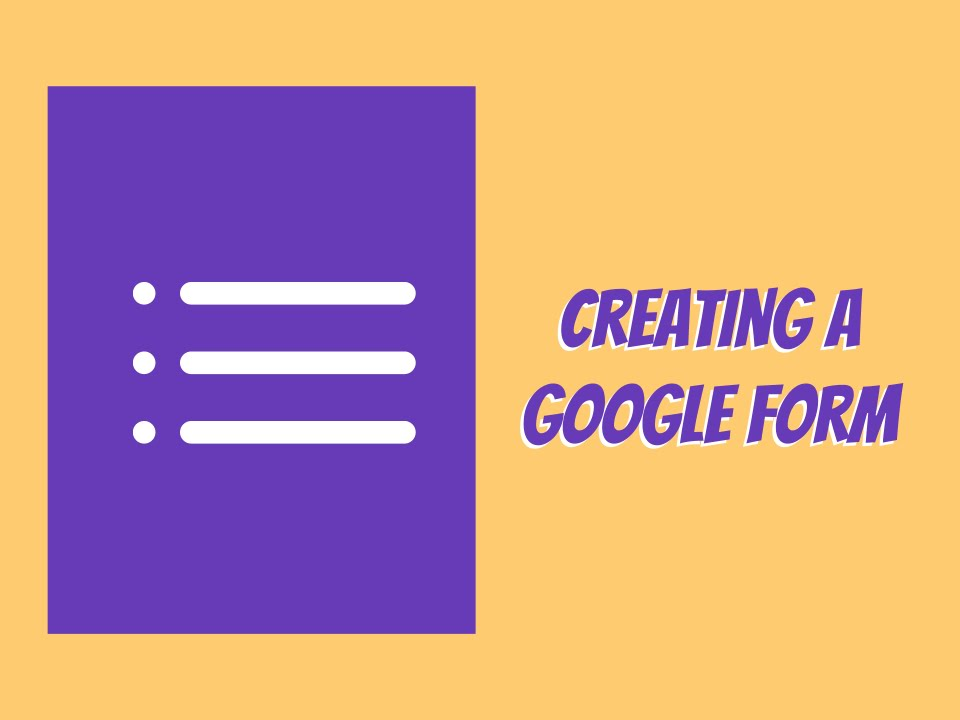 How to Create a Google Form - YouTube