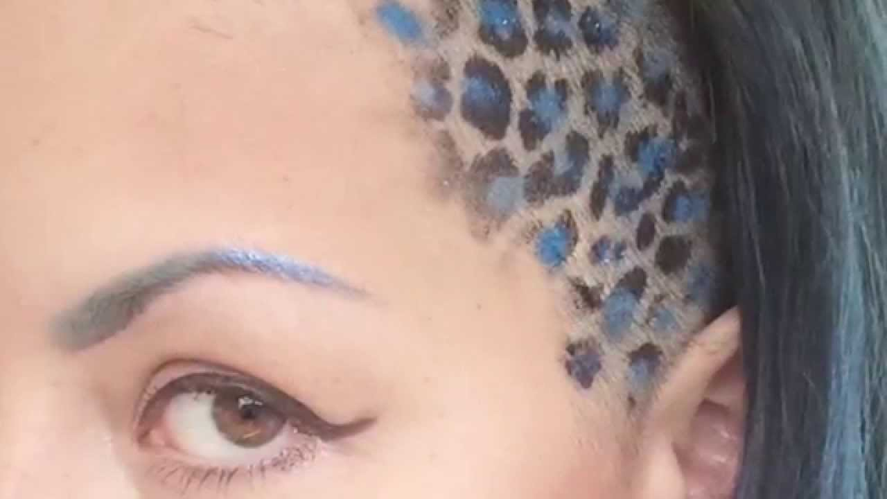 How I Do My Leopard Print Hair Youtube