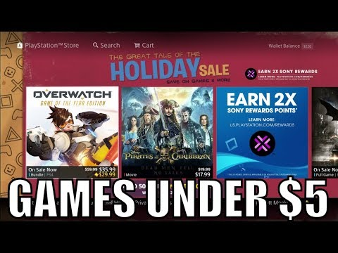 PS4 Game Deals UNDER $5 - The Great Tale of The Holiday Sale 2017