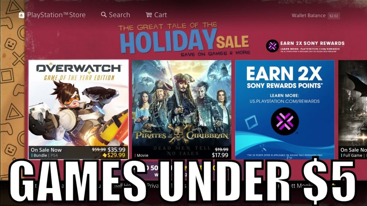 Christmas deals on ps4 games