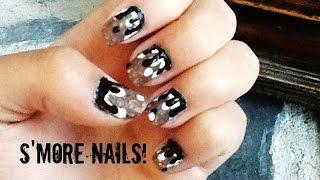 Hot Summer Design! S'more Nails! (dripping Nail Art)