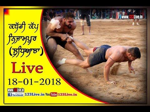 Nizampur (Ludhiana) Kabaddi Tournament (Live) 18 Jan 2018/www.123Live.in