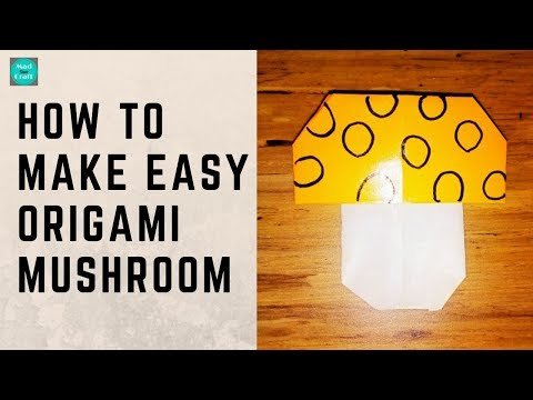 How to make easy Origami Mushroom | Paper Crafts Easy