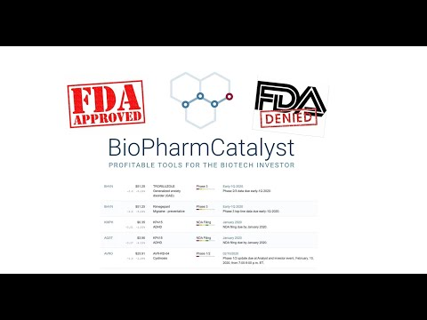 Best way to find stocks that are approaching FDA approval
