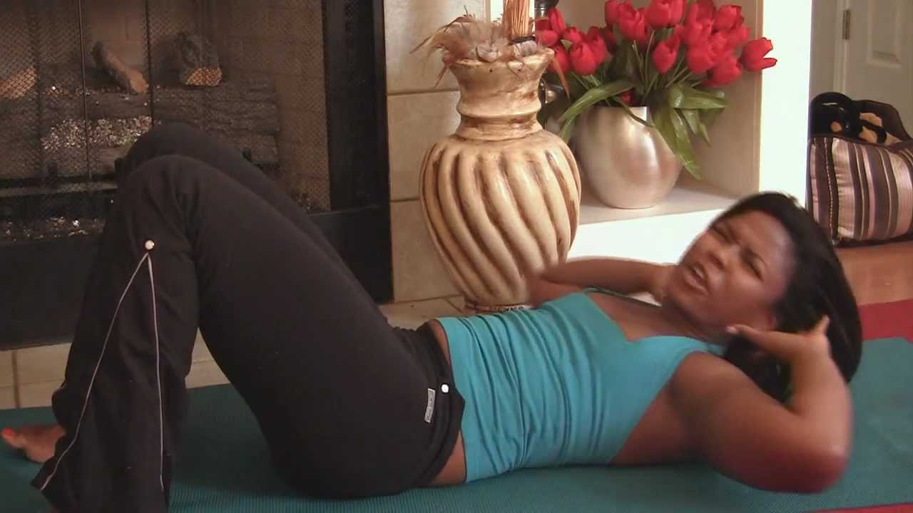 8 Minute Abs Floor Exercise Routine Ab Home Workout Fitness Training With Dionne