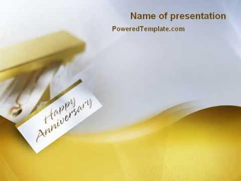 Work Anniversary PowerPoint Templates PoweredTemplate - mandegar.info